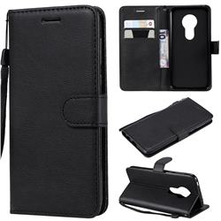 Retro Greek Classic Smooth PU Leather Wallet Phone Case for Motorola Moto G7 Play - Black
