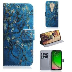 Apricot Tree PU Leather Wallet Case for Motorola Moto G7 Play