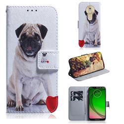 Pug Dog PU Leather Wallet Case for Motorola Moto G7 Play