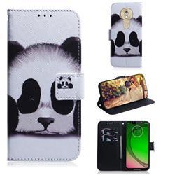 Sleeping Panda PU Leather Wallet Case for Motorola Moto G7 Play