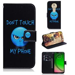 Not Touch My Phone PU Leather Wallet Case for Motorola Moto G7 Play