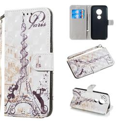 Tower Couple 3D Painted Leather Wallet Phone Case for Motorola Moto G7 Play