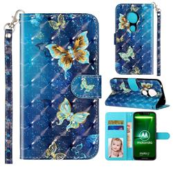 Rankine Butterfly 3D Leather Phone Holster Wallet Case for Motorola Moto G7 Play