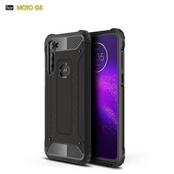 King Kong Armor Premium Shockproof Dual Layer Rugged Hard Cover for Motorola Moto G8 - Black Gold