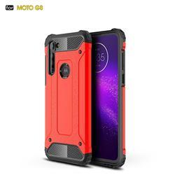 King Kong Armor Premium Shockproof Dual Layer Rugged Hard Cover for Motorola Moto G8 - Big Red