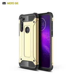 King Kong Armor Premium Shockproof Dual Layer Rugged Hard Cover for Motorola Moto G8 - Champagne Gold