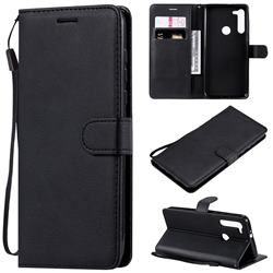 Retro Greek Classic Smooth PU Leather Wallet Phone Case for Motorola Moto G8 - Black