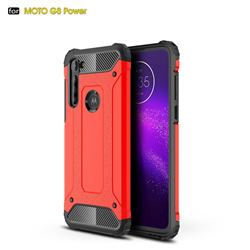 King Kong Armor Premium Shockproof Dual Layer Rugged Hard Cover for Motorola Moto G8 Power - Big Red