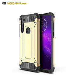 King Kong Armor Premium Shockproof Dual Layer Rugged Hard Cover for Motorola Moto G8 Power - Champagne Gold