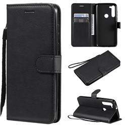 Retro Greek Classic Smooth PU Leather Wallet Phone Case for Motorola Moto G8 Power - Black