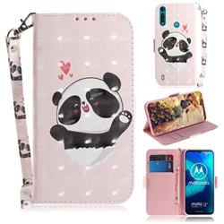 Heart Cat 3D Painted Leather Wallet Phone Case for Motorola Moto G8 Power Lite
