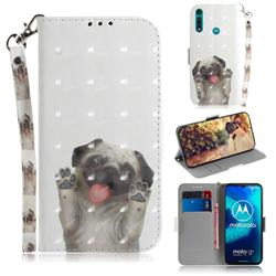 Pug Dog 3D Painted Leather Wallet Phone Case for Motorola Moto G8 Power Lite