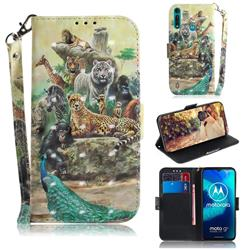 Beast Zoo 3D Painted Leather Wallet Phone Case for Motorola Moto G8 Power Lite