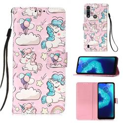Angel Pony 3D Painted Leather Wallet Case for Motorola Moto G8 Power Lite