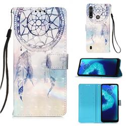 Fantasy Campanula 3D Painted Leather Wallet Case for Motorola Moto G8 Power Lite