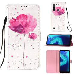Watercolor 3D Painted Leather Wallet Case for Motorola Moto G8 Power Lite