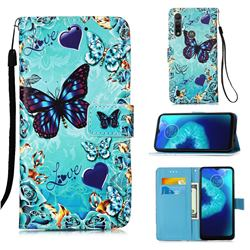 Love Butterfly Matte Leather Wallet Phone Case for Motorola Moto G8 Power Lite