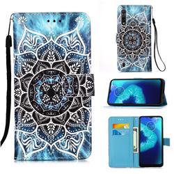 Underwater Mandala Matte Leather Wallet Phone Case for Motorola Moto G8 Power Lite