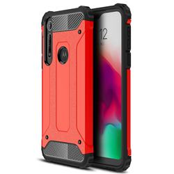 King Kong Armor Premium Shockproof Dual Layer Rugged Hard Cover for Motorola Moto G8 Play - Big Red