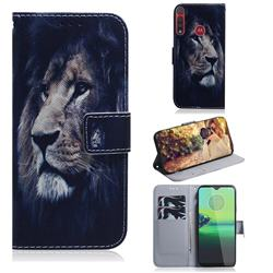 Lion Face PU Leather Wallet Case for Motorola Moto G8 Play