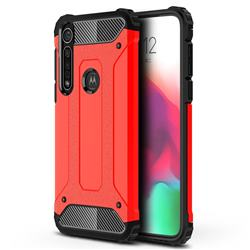 King Kong Armor Premium Shockproof Dual Layer Rugged Hard Cover for Motorola Moto G8 Plus - Big Red