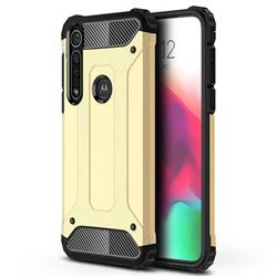King Kong Armor Premium Shockproof Dual Layer Rugged Hard Cover for Motorola Moto G8 Plus - Champagne Gold
