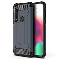 King Kong Armor Premium Shockproof Dual Layer Rugged Hard Cover for Motorola Moto G8 Plus - Navy