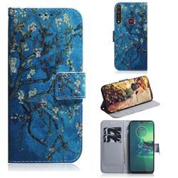 Apricot Tree PU Leather Wallet Case for Motorola Moto G8 Plus