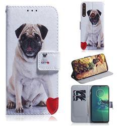 Pug Dog PU Leather Wallet Case for Motorola Moto G8 Plus