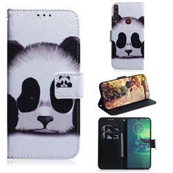 Sleeping Panda PU Leather Wallet Case for Motorola Moto G8 Plus