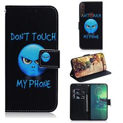 Not Touch My Phone PU Leather Wallet Case for Motorola Moto G8 Plus