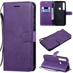 Retro Greek Classic Smooth PU Leather Wallet Phone Case for Motorola Moto G8 Plus - Purple