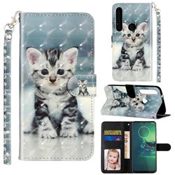 Kitten Cat 3D Leather Phone Holster Wallet Case for Motorola Moto G8 Plus