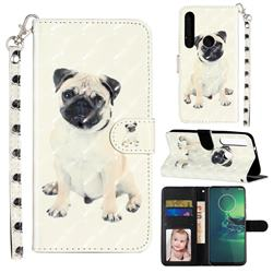 Pug Dog 3D Leather Phone Holster Wallet Case for Motorola Moto G8 Plus