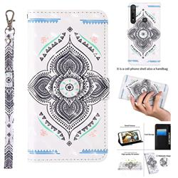Mandala Totem 3D Painted Leather Wallet Case for Motorola Moto G8 Plus