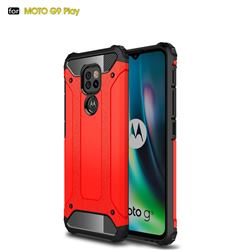 King Kong Armor Premium Shockproof Dual Layer Rugged Hard Cover for Motorola Moto G9 Play - Big Red