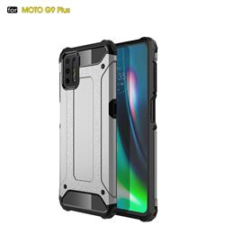King Kong Armor Premium Shockproof Dual Layer Rugged Hard Cover for Motorola Moto G9 Plus - White