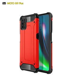 King Kong Armor Premium Shockproof Dual Layer Rugged Hard Cover for Motorola Moto G9 Plus - Big Red