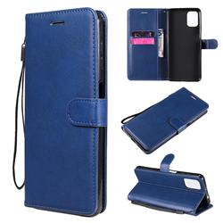 Retro Greek Classic Smooth PU Leather Wallet Phone Case for Motorola Moto G9 Plus - Blue