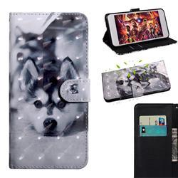Husky Dog 3D Painted Leather Wallet Case for Motorola Moto G9 Plus