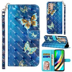 Rankine Butterfly 3D Leather Phone Holster Wallet Case for Motorola Moto G9 Plus