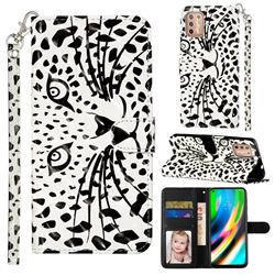 Leopard Panther 3D Leather Phone Holster Wallet Case for Motorola Moto G9 Plus