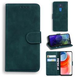Retro Classic Skin Feel Leather Wallet Phone Case for Motorola Moto G Play(2021) - Green