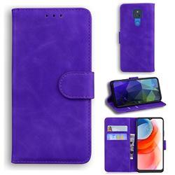 Retro Classic Skin Feel Leather Wallet Phone Case for Motorola Moto G Play(2021) - Purple
