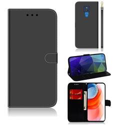 Shining Mirror Like Surface Leather Wallet Case for Motorola Moto G Play(2021) - Black