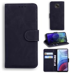 Retro Classic Skin Feel Leather Wallet Phone Case for Motorola Moto G Power 2021 - Black