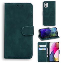 Retro Classic Skin Feel Leather Wallet Phone Case for Motorola Moto G Stylus 2021 - Green