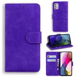 Retro Classic Skin Feel Leather Wallet Phone Case for Motorola Moto G Stylus 2021 - Purple