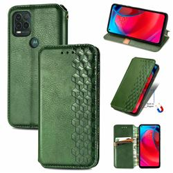 Ultra Slim Fashion Business Card Magnetic Automatic Suction Leather Flip Cover for Motorola Moto G Stylus 2021 5G - Green