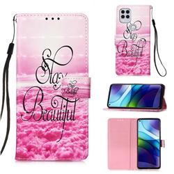 Beautiful 3D Painted Leather Wallet Case for Motorola Moto G Stylus 2021 5G